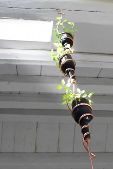 Diy-modern-herb-garden-from-recycled-wine-bottles