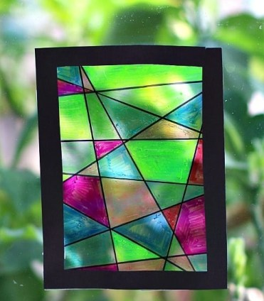 Faux-stained-glass-suncatcher-