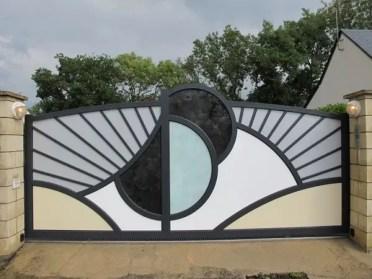 Modern-metal-garden-gates-electric-drive-sliding-gate-decorative-gates