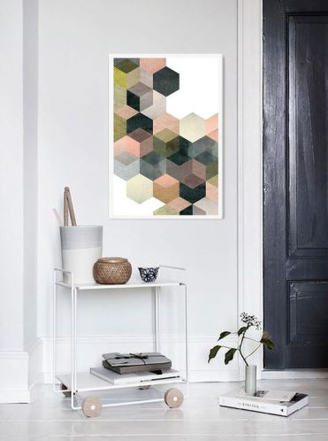 04-hexagon-wall-art-that-you-can-make-yourself