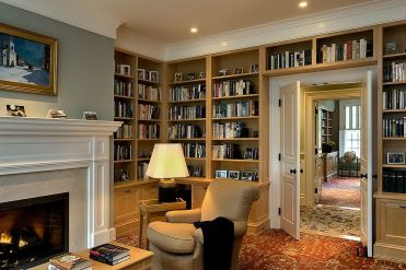 1-let-the-shelves-around-the-doorway-extend-to-other-walls-in-the-open-family-room-with-fireplace