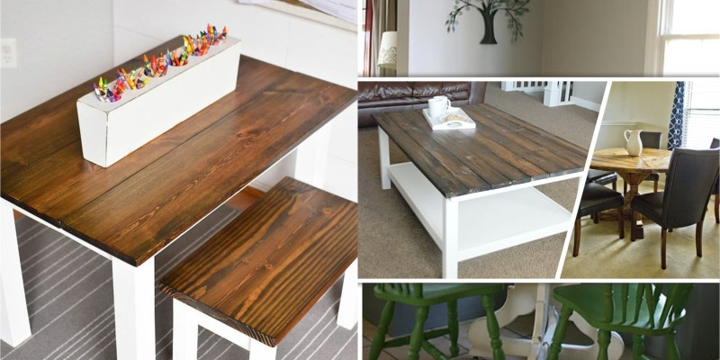 15 diy farmhouse tables to complete your home decoration2