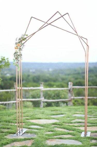 Copper-and-wood-triple-peak-wedding-arch-61317