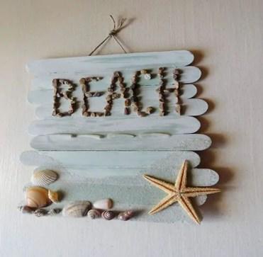 Craft-stick-beach-plaque