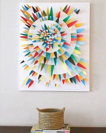 Paper-scrap-3d-wall-art-idea