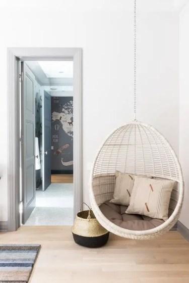 Boys-bedroom-with-corner-hanging-rattan-chair