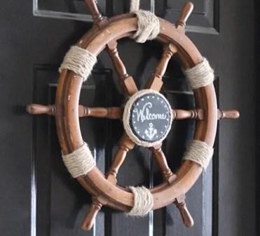 Diy-nautical-ship-helm-wreath-upcycledtreasures