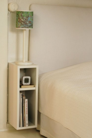Narrow-nightstand-designs-small-bedroom-furniture-white-nightstand-bedside-lamp