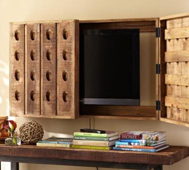 Rack-media-concealing-wood-rustic-cover-for-tv