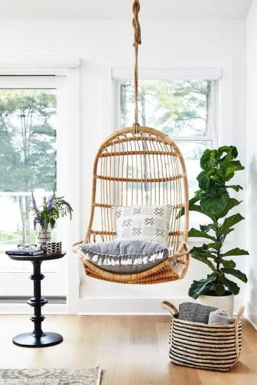 Rattan-hanging-chair-in-corner