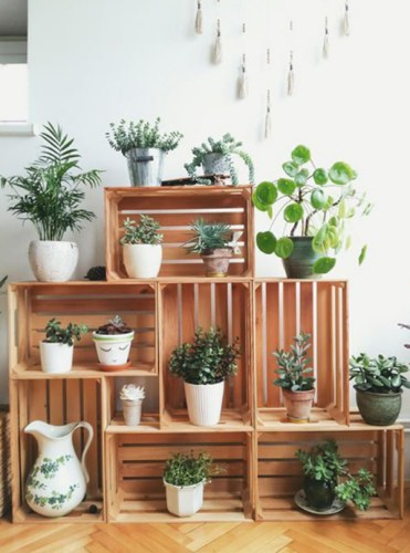 Recycled-crates-plant-stand