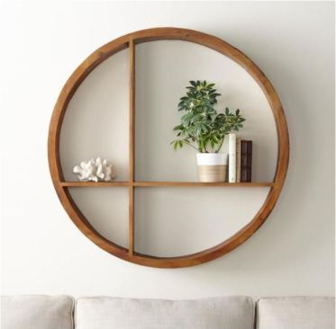 Round-wood-shelf