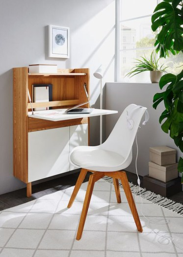 Small-home-office-cabinet-with-folding-desks