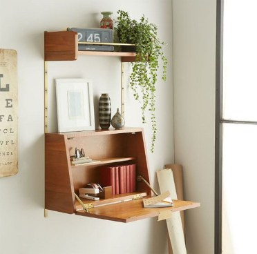 Wood-folding-desk-for-small-space