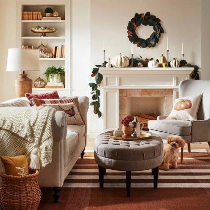 1-living-room-fall-decor-with-pillows-and-pumpkins