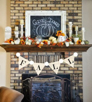 19-bold-faux-fall-flowers-pumpkins-candles-in-vintage-candle-holders