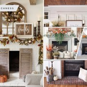 40 mantel decorations for your fall home atmosphere2