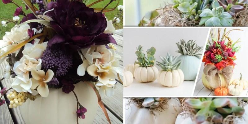 60 creative pumpkin vase and pot ideas2