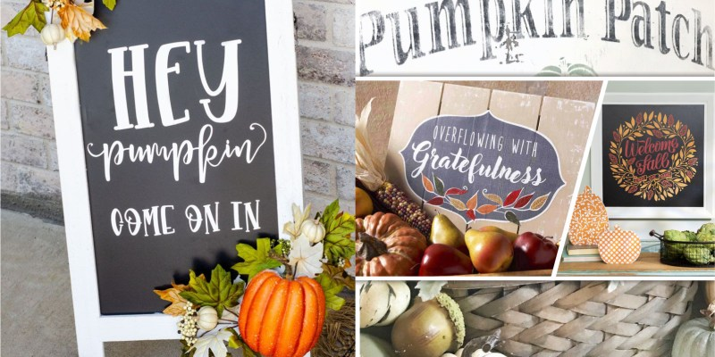 Completing your fall decoration with these 55 fall sign ideas2