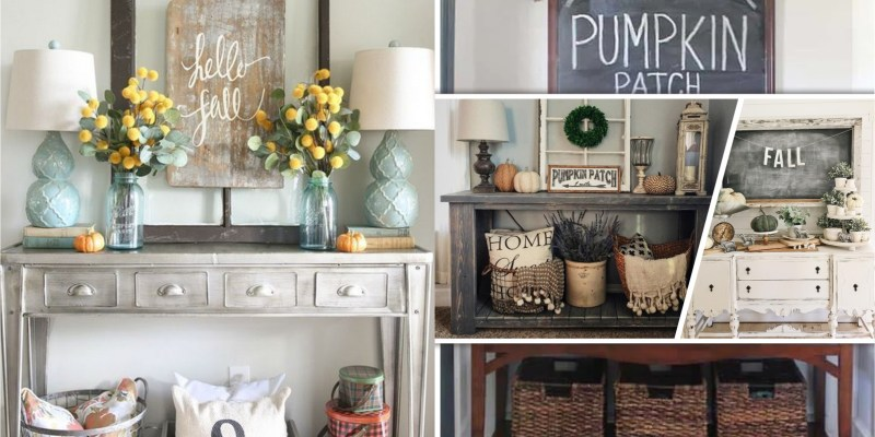 Decorate your fall entryway table with these 50 ideas2