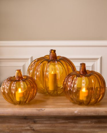 Glass-pumpkin-candle-holder