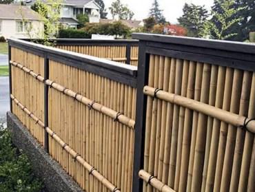 Contemporary-bamboo-fence-home-ideas