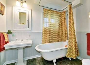 Curtained-tub