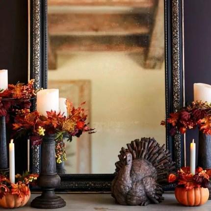 Fall-decorations-ideas-foliage-candle-holders