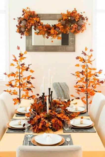 Fall-decorations-ideas-foliage-dinner-room