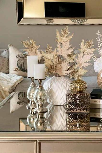 Fall-decorations-ideas-sparkly-gold