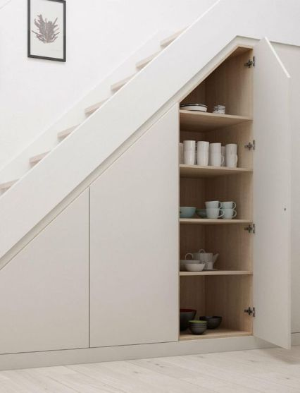 Sleek-hidden-storage-spaces-with-tableware-are-a-great-idea-if-you-dont-have-enough-space-in-the-kitchen