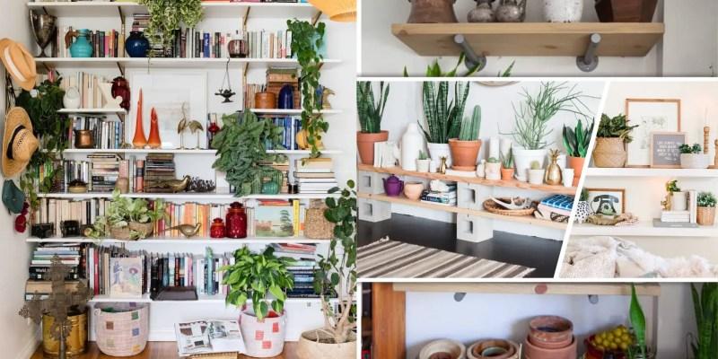 30 fresh plant-filled shelf ideas2