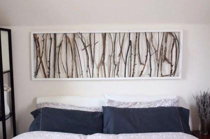 Diy-branch-art-above-bed
