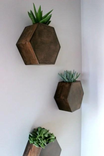 Sechseck-Wand-Pflanzgefäß