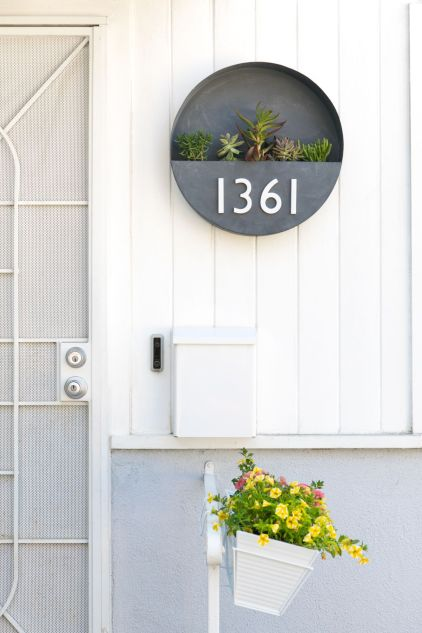 Hausnummer-Pflanzer-DIY