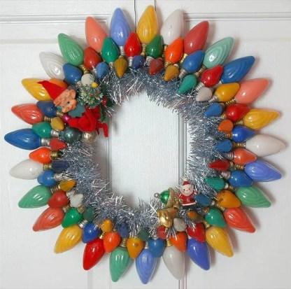 Recycled-bulb-wreath