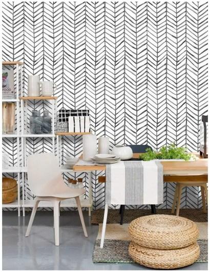 Wallpaper-herringbone-black-white-vinyl