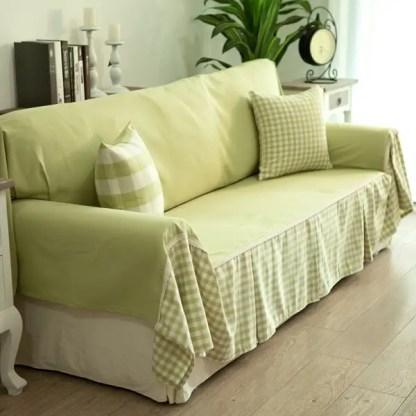 Cheap-diy-sofa-cover-ideas-green-fabrics-decorative-pillows