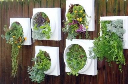 Wohnwand-Pflanzgefäß-IdeenGarten-Deko-Ideen
