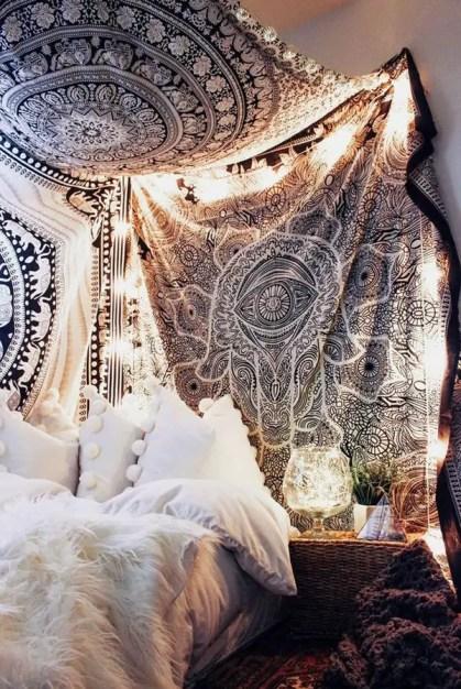 Mandala-Wandteppich-Schlafzimmer-Dekor-Ideen