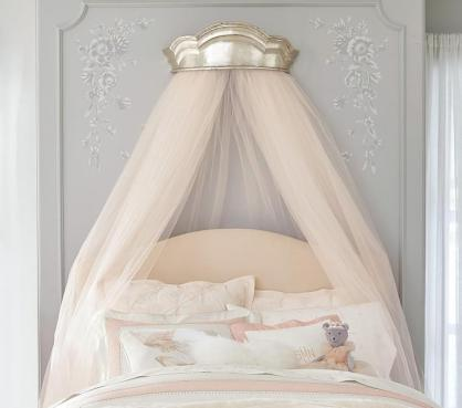 Silver-crown-blush-metallic-cornice-tulle-canopy