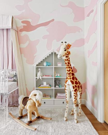 White-and-pink-nursery-walls