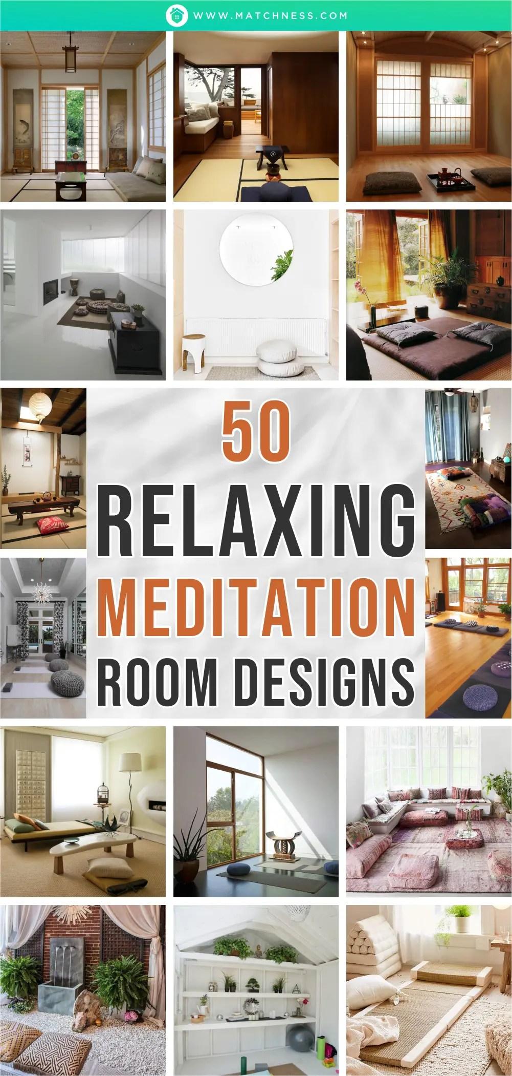 50 entspannende Meditationsraum-Designs ~ Matchness.com