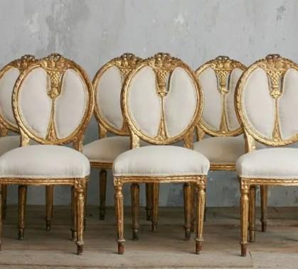 Oval-Esszimmerstühle