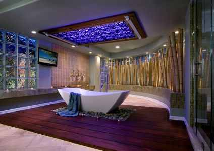 Stunning-use-of-bamboo-in-the-luxurious-tropical-style-bathroom