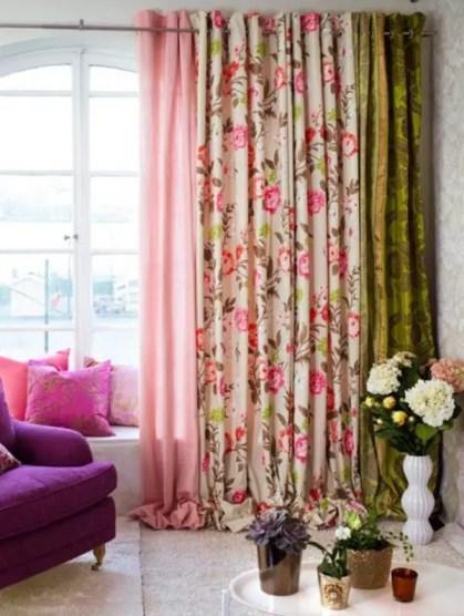Wohnzimmer-Vorhänge-Ideen-Pastellfarben-Blumen-Design
