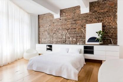 Simple-minimalist-exposed-brick-bedroom