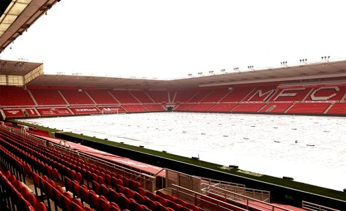 Matchsaver Air Roller Covers deployed at Middlesbrough FC