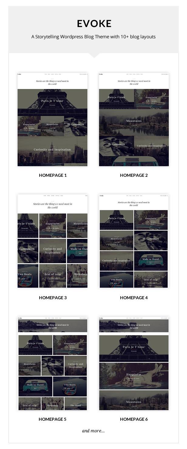 Evoke - Photo Stories WordPress Blog Theme - 1