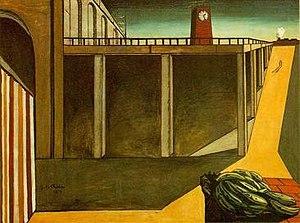 Giorgio de Chirico, Gara Montparnasse, 1914, Muzeul de artă modernă, New York